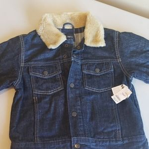 Gap kids jean jacket size med with flannel lining